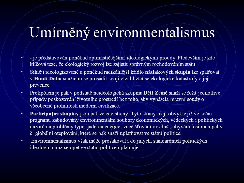 Umírněný environmentalismus