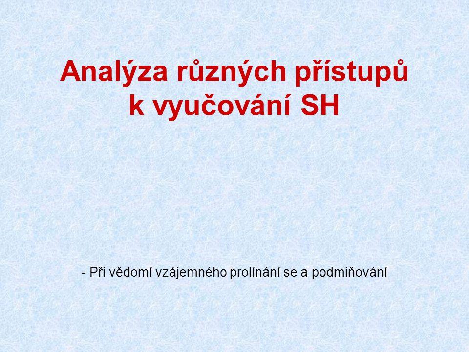 Analýza různých přístupů k vyučování SH