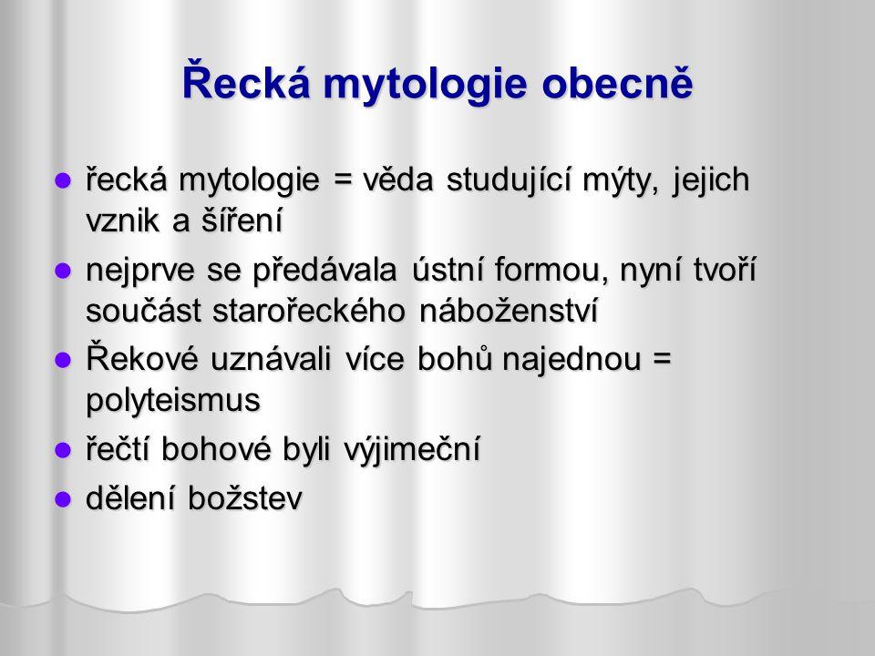 Řecká mytologie obecně