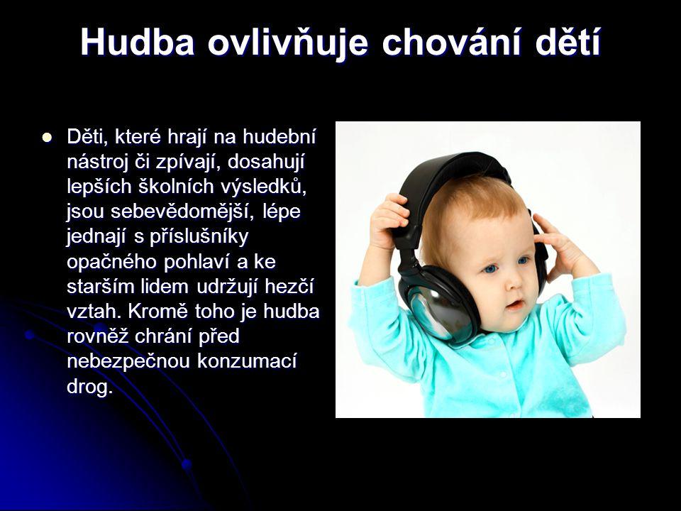 Hudba ovlivňuje chování dětí