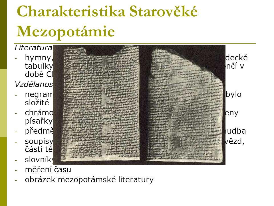 Charakteristika Starověké Mezopotámie
