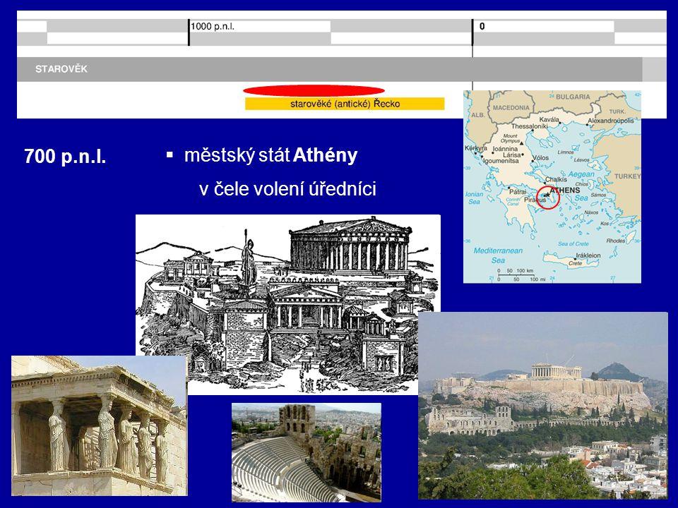 700 p.n.l. městský stát Athény v čele volení úředníci
