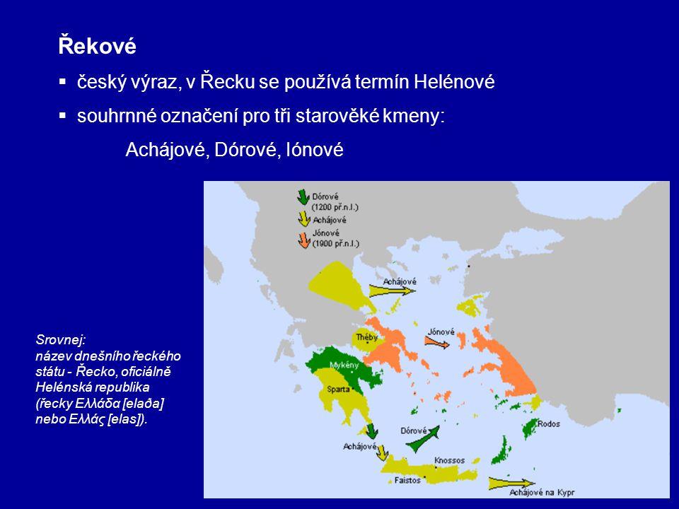 Řekové český výraz, v Řecku se používá termín Helénové