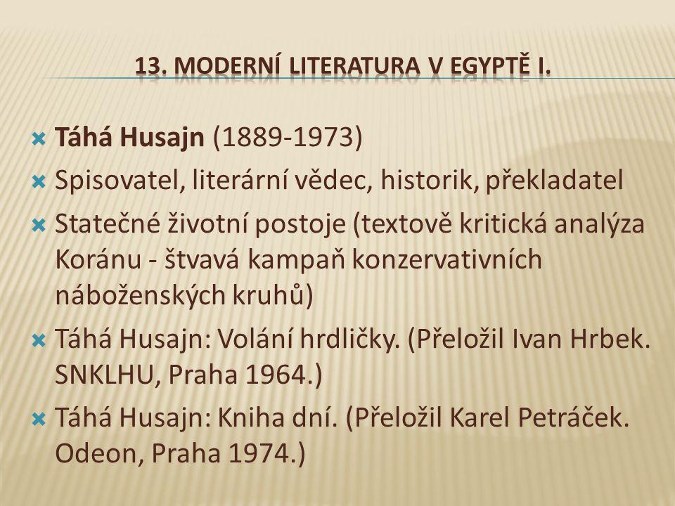 13. Moderní literatura V Egyptě I.
