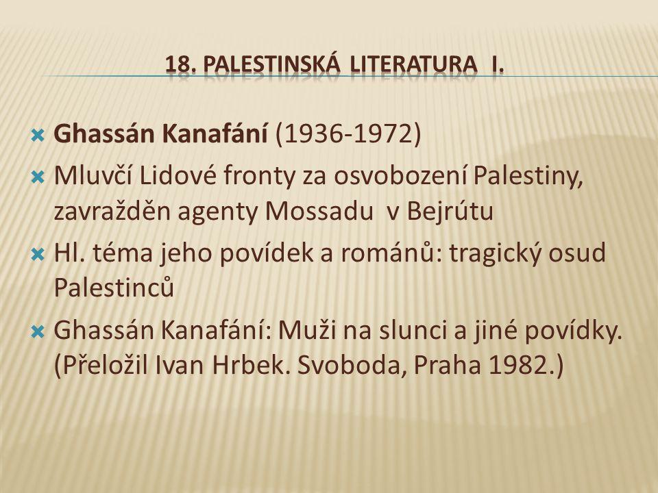 18. Palestinská literatura I.