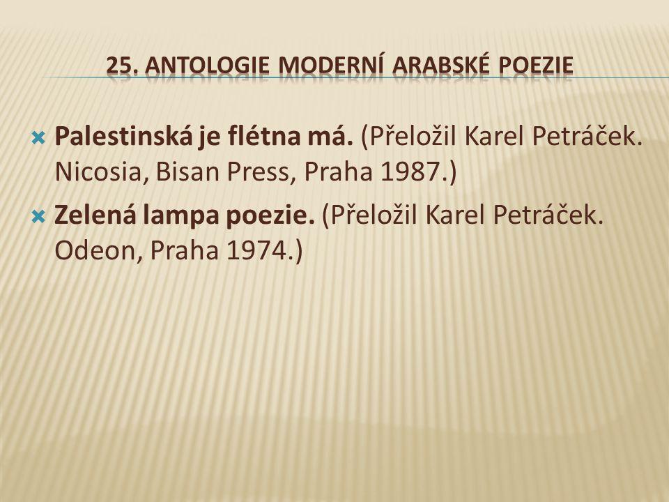 25. Antologie moderní arabské poezie