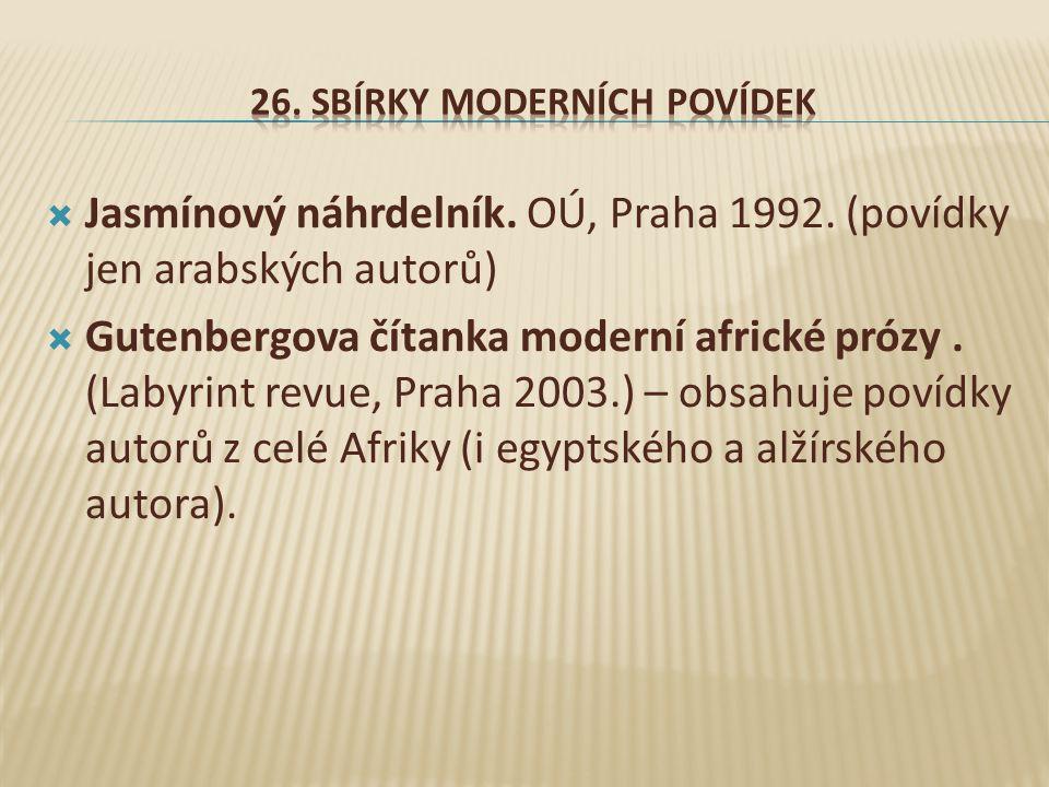 26. Sbírky moderních povídek