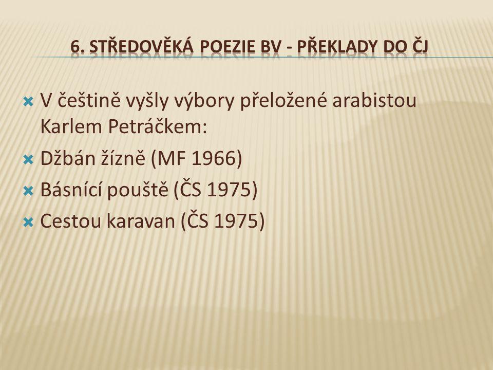 6. Středověká poezie BV - Překlady do ČJ