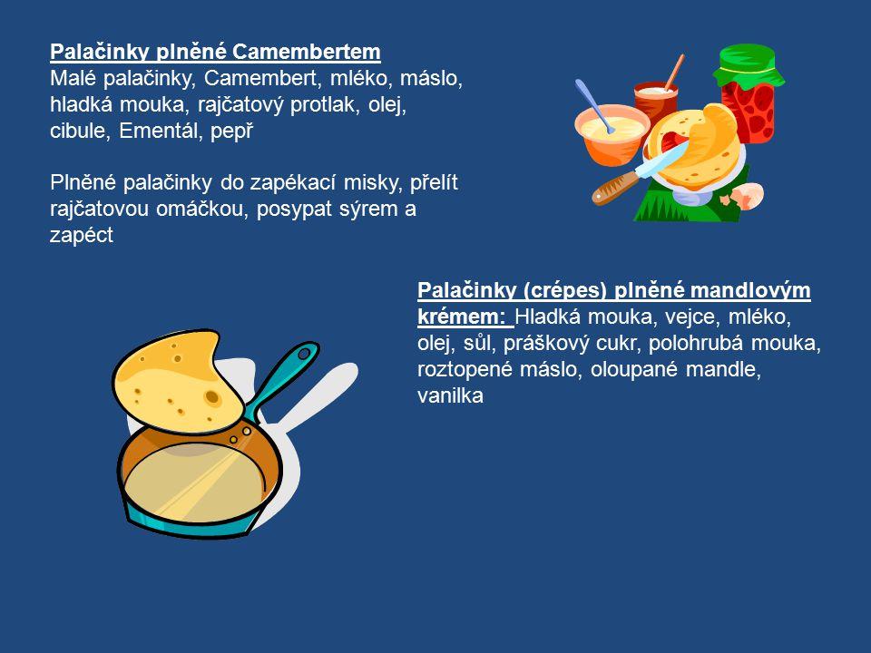 Palačinky plněné Camembertem