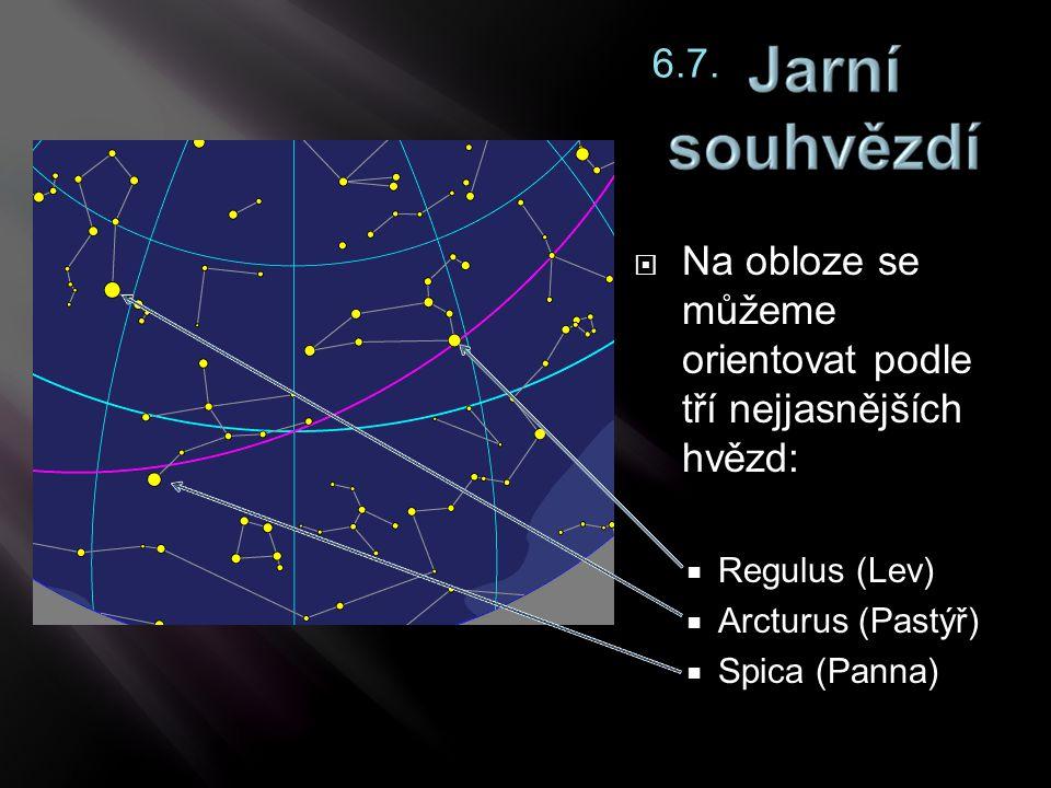 Na obloze se můžeme orientovat podle tří nejjasnějších hvězd: