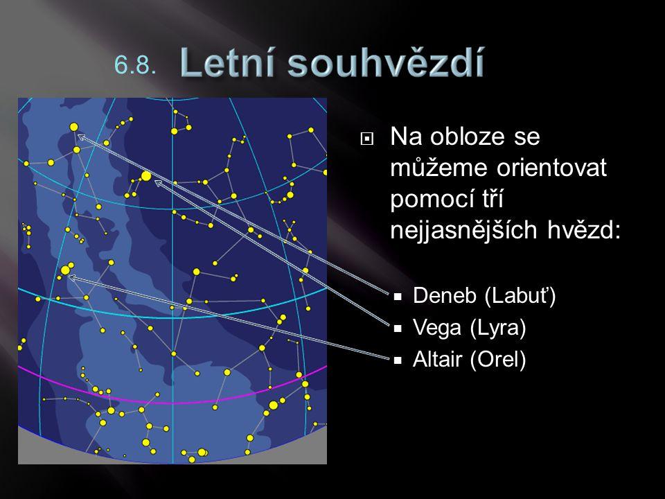 Na obloze se můžeme orientovat pomocí tří nejjasnějších hvězd: