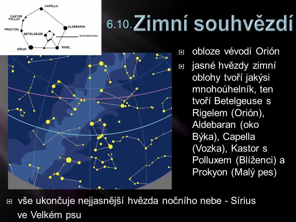 6.10. obloze vévodí Orión.