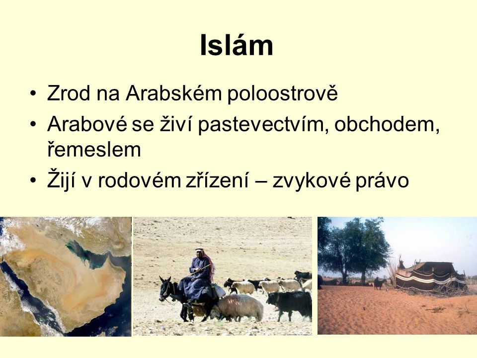 Islám Zrod na Arabském poloostrově