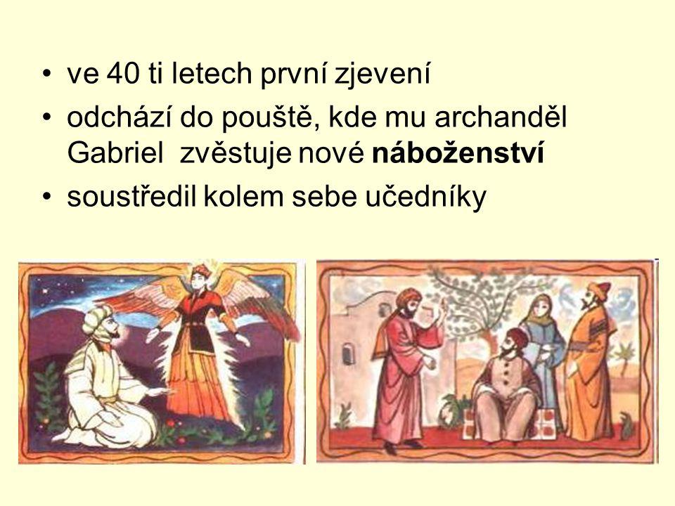 ve 40 ti letech první zjevení