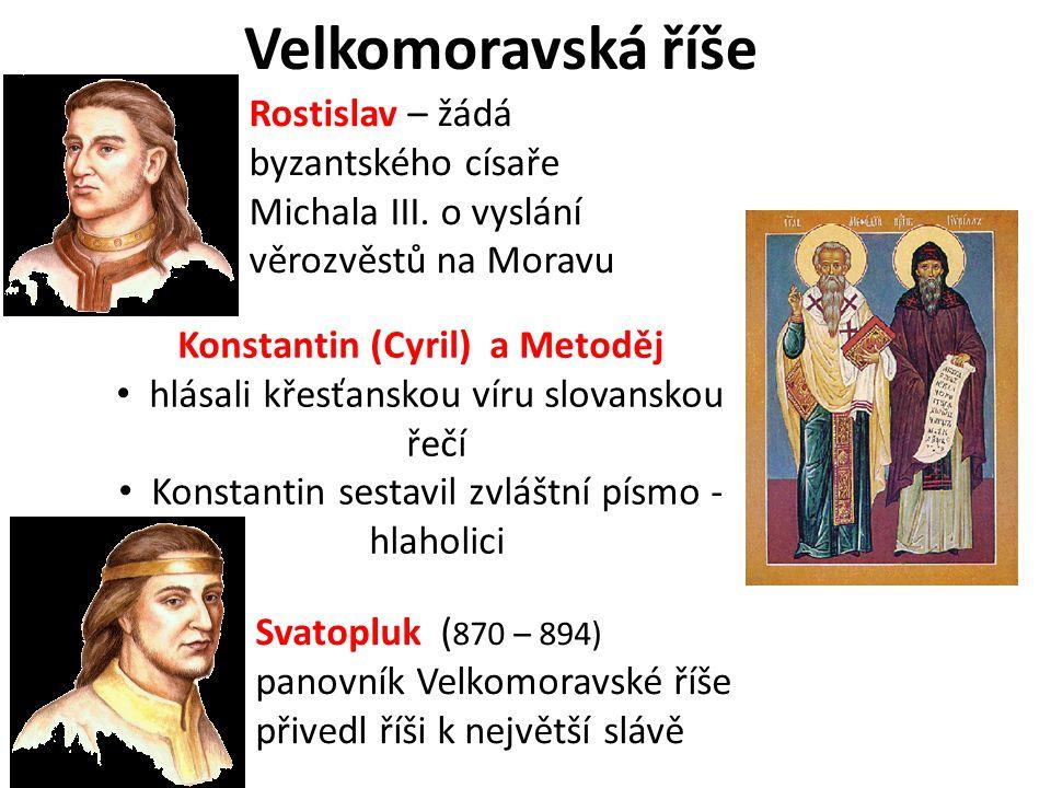 Konstantin (Cyril) a Metoděj