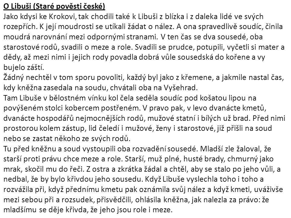 O Libuši (Staré pověsti české)