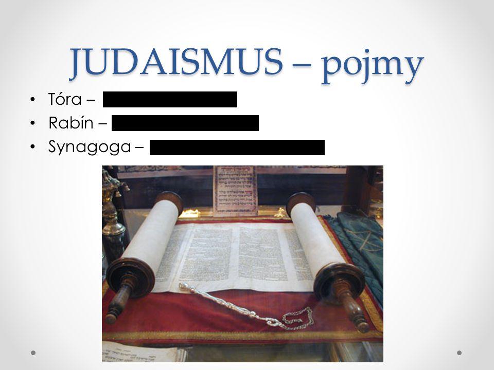 JUDAISMUS – pojmy Tóra – Rabín – Synagoga – Svatá kniha