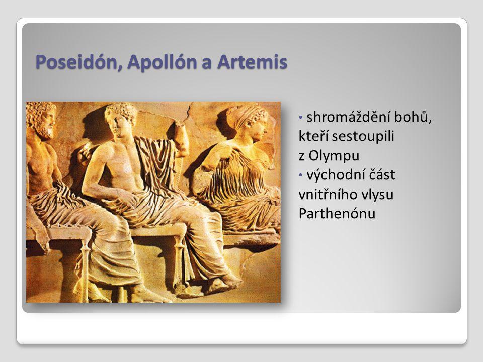 Poseidón, Apollón a Artemis