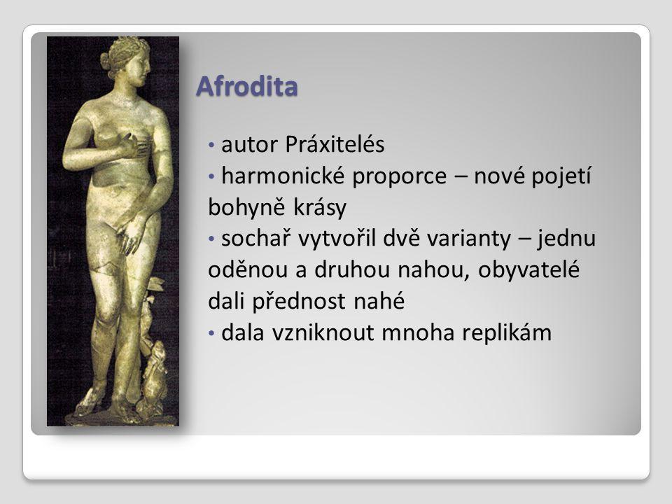Afrodita autor Práxitelés