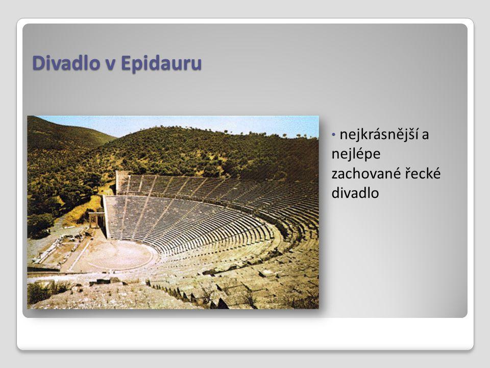 Divadlo v Epidauru nejkrásnější a nejlépe zachované řecké divadlo
