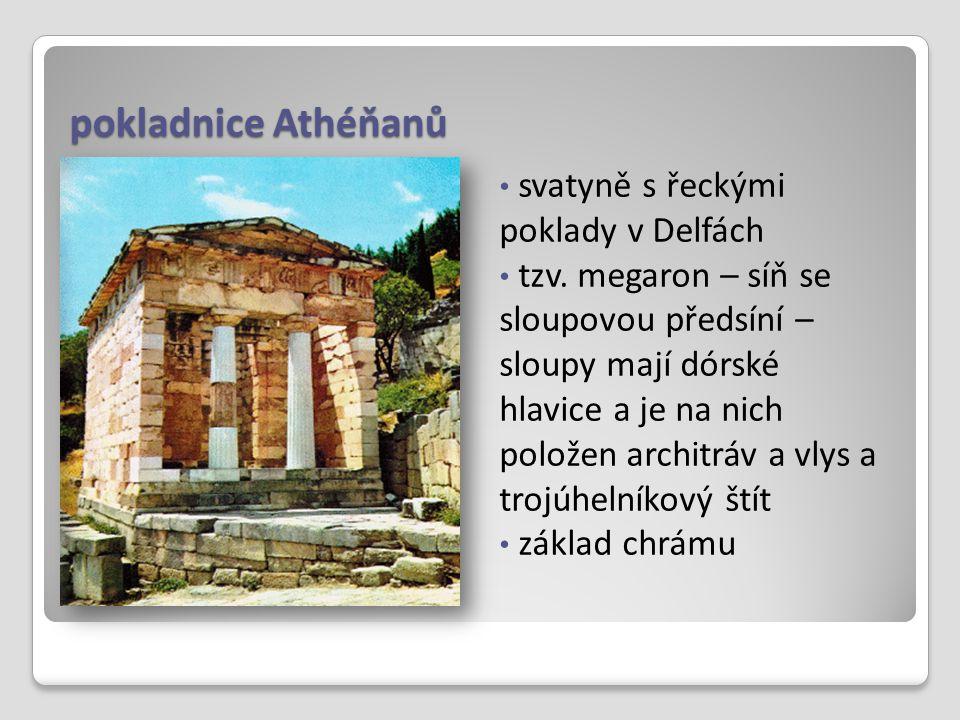 pokladnice Athéňanů svatyně s řeckými poklady v Delfách