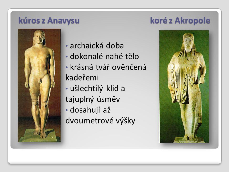 kúros z Anavysu koré z Akropole
