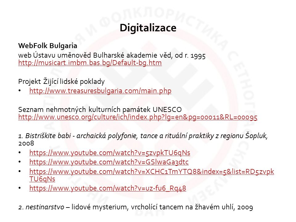 Digitalizace WebFolk Bulgaria