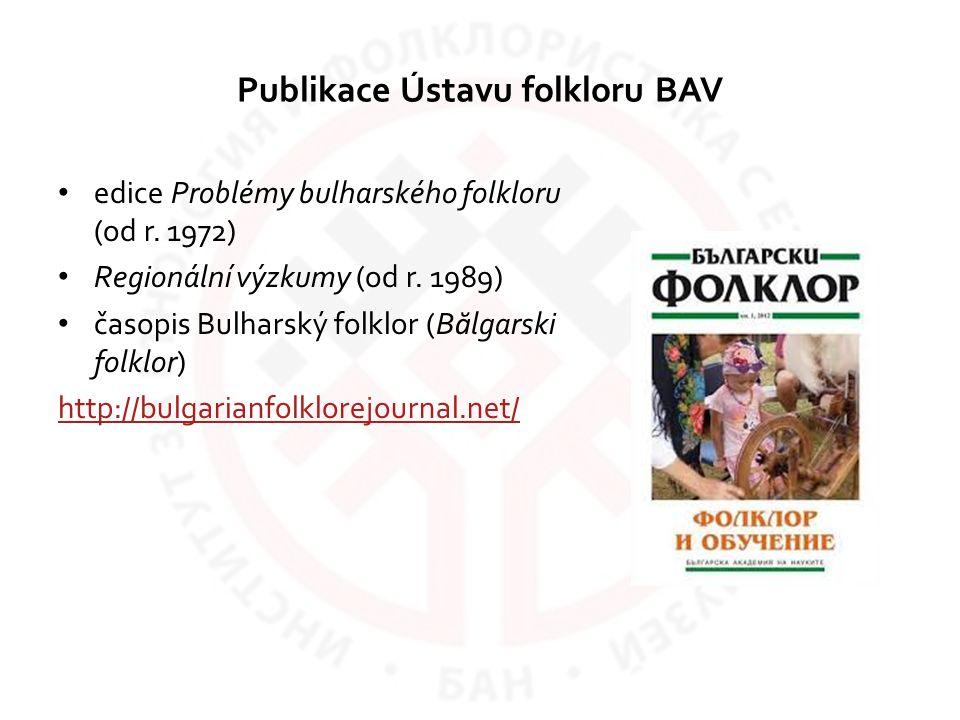 Publikace Ústavu folkloru BAV
