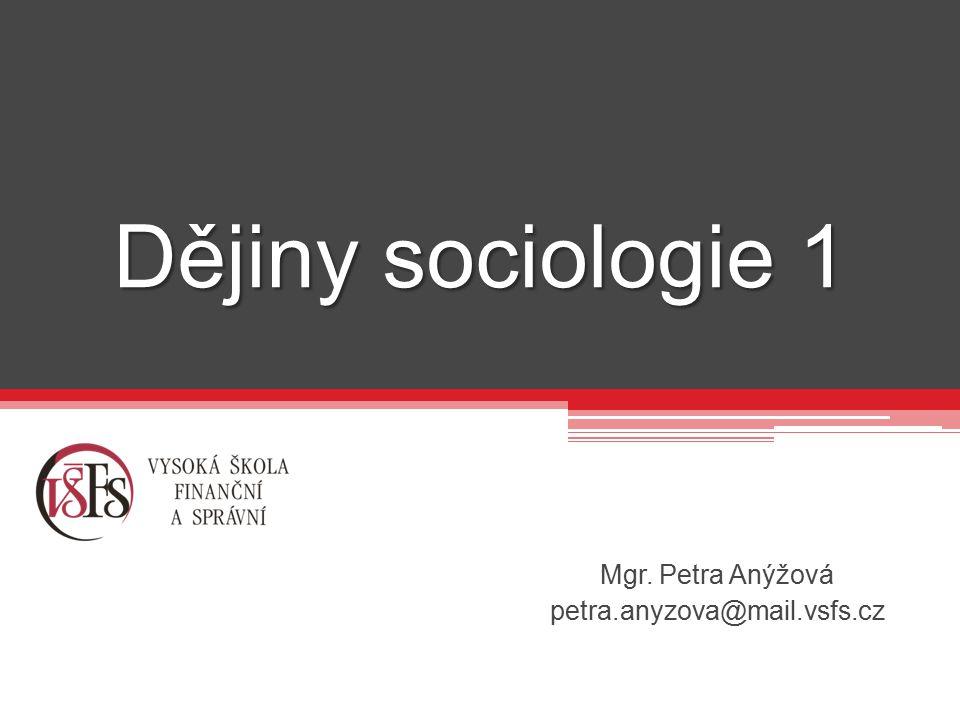 Mgr. Petra Anýžová petra.anyzova@mail.vsfs.cz