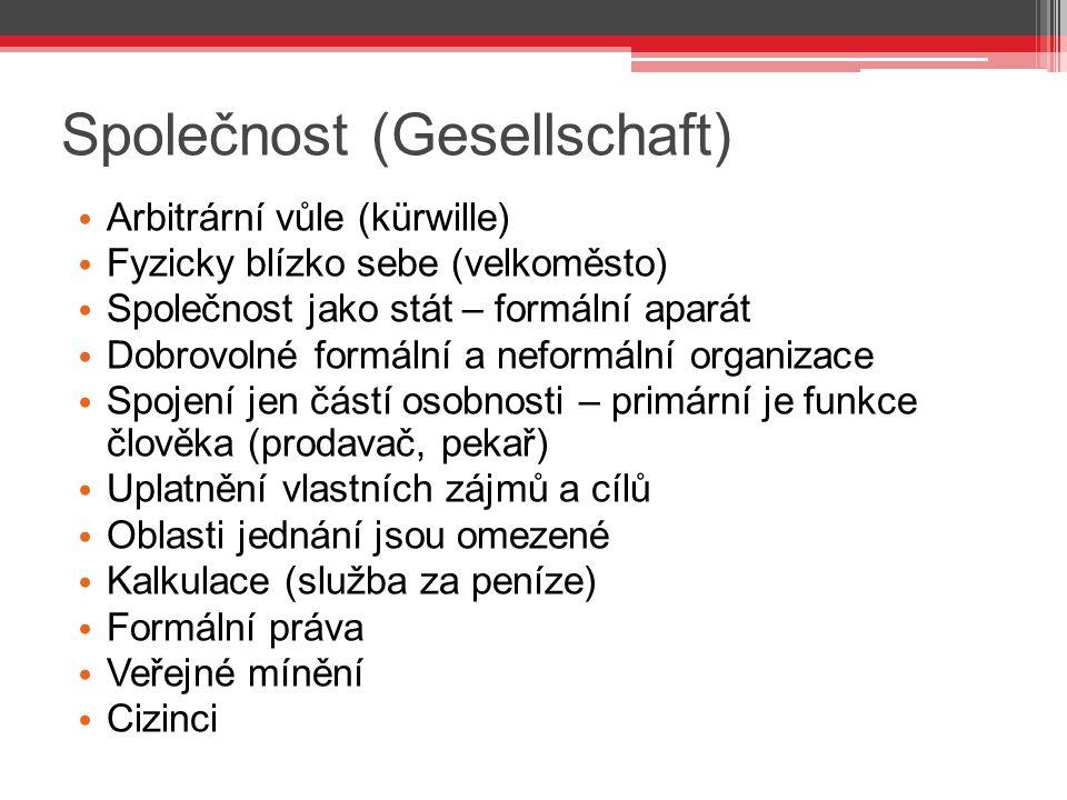 Společnost (Gesellschaft)