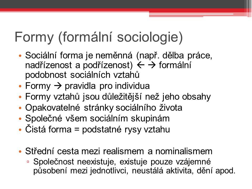 Formy (formální sociologie)
