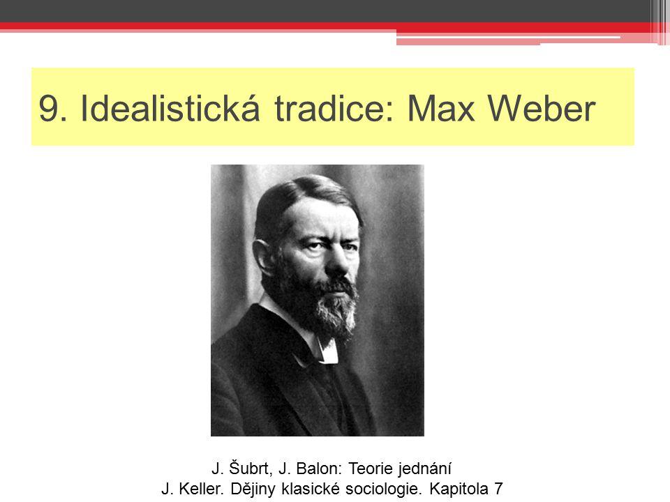 9. Idealistická tradice: Max Weber