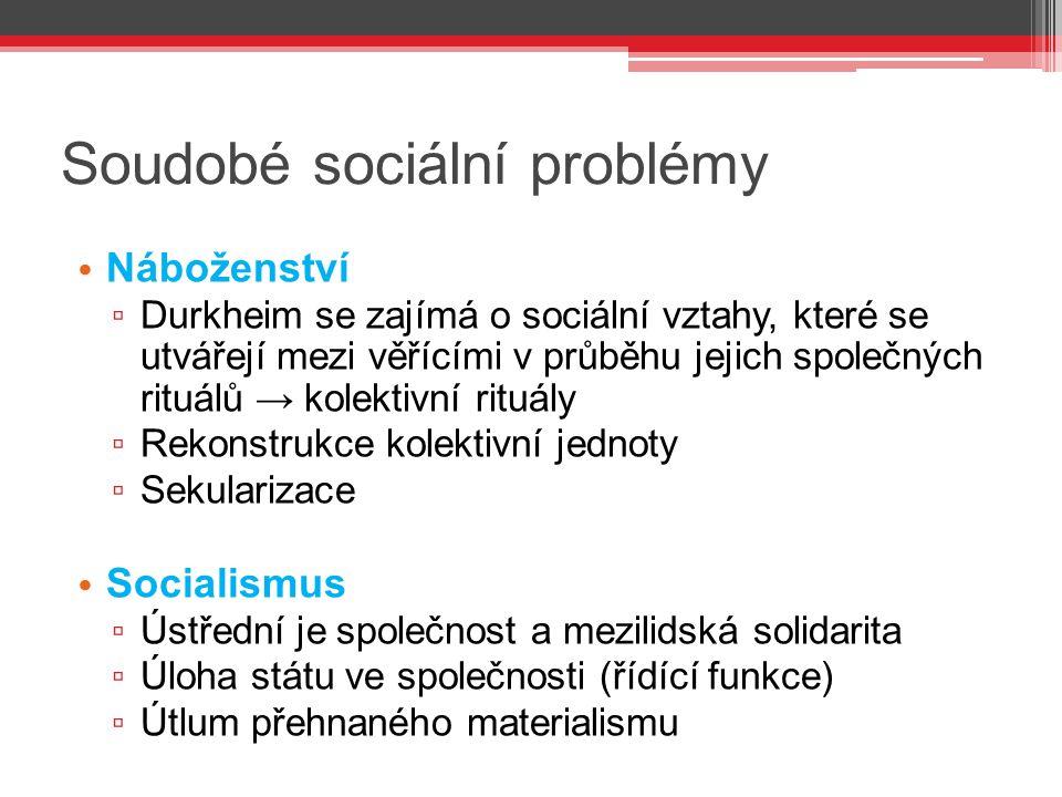 Soudobé sociální problémy
