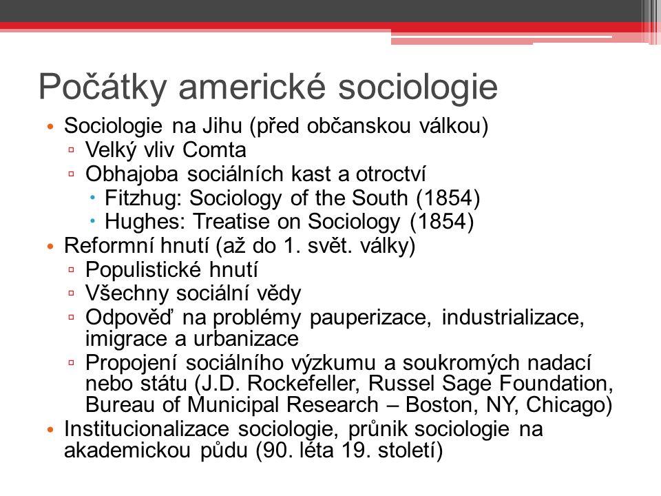Počátky americké sociologie