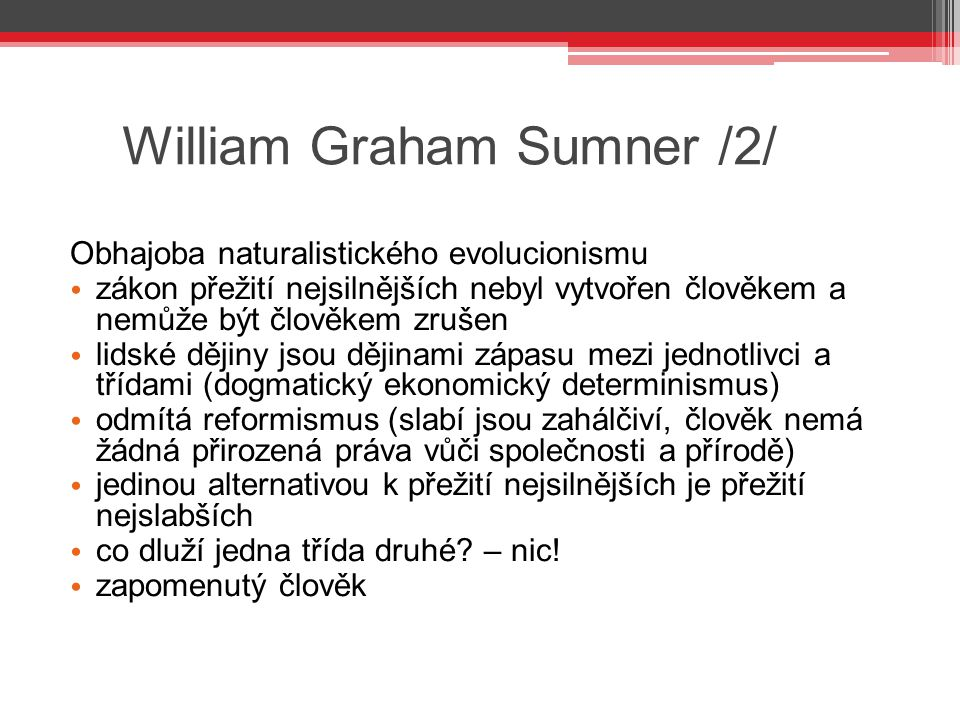 William Graham Sumner /2/