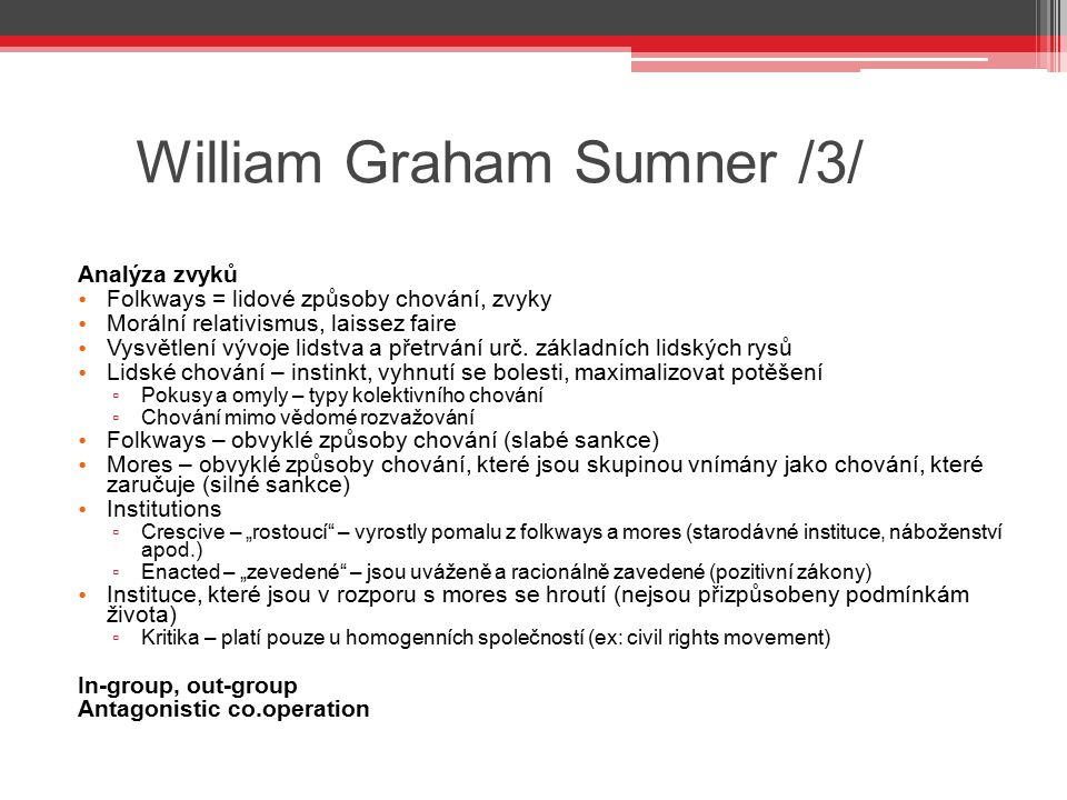 William Graham Sumner /3/