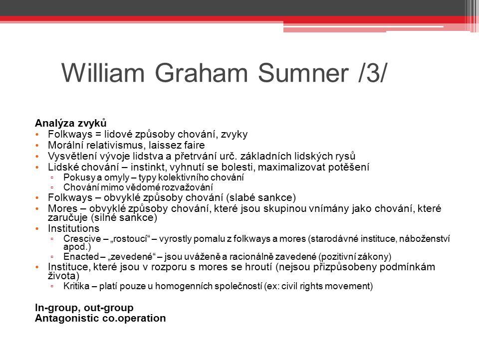 William Graham Sumner /3/