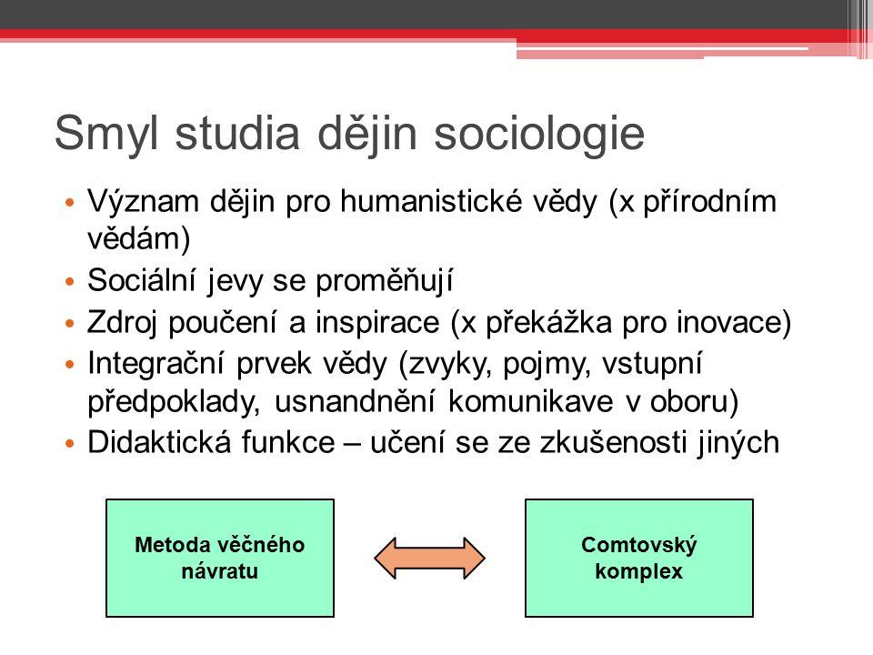 Smyl studia dějin sociologie