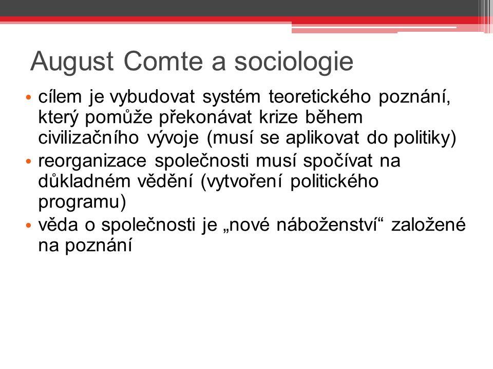 August Comte a sociologie