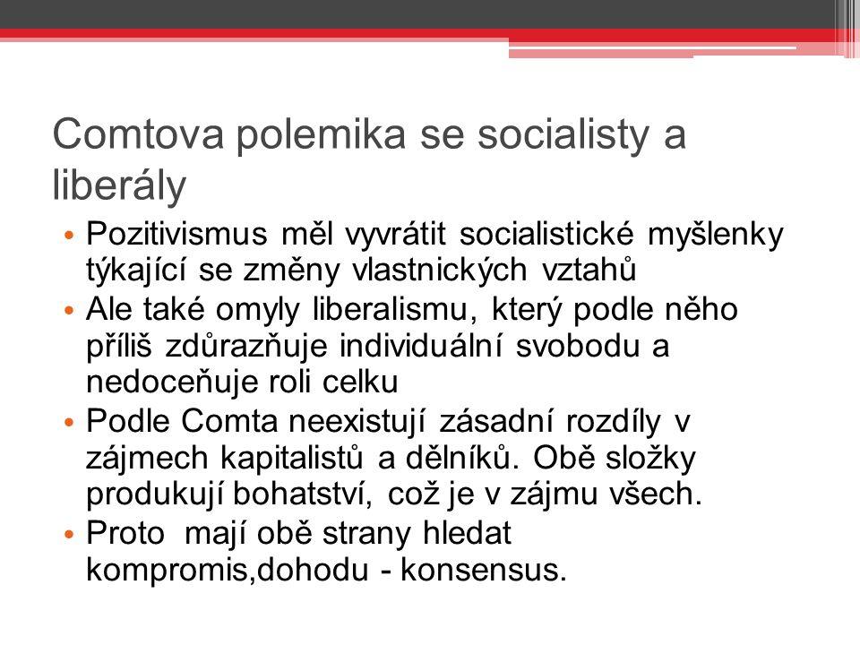 Comtova polemika se socialisty a liberály