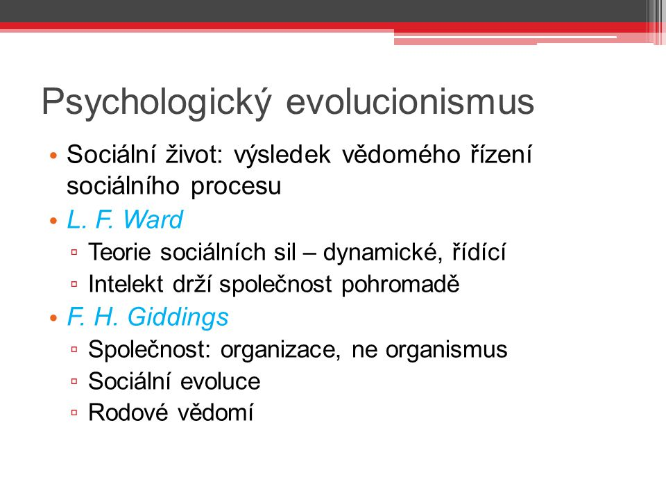 Psychologický evolucionismus