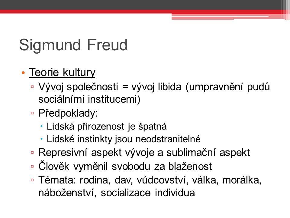 Sigmund Freud Teorie kultury
