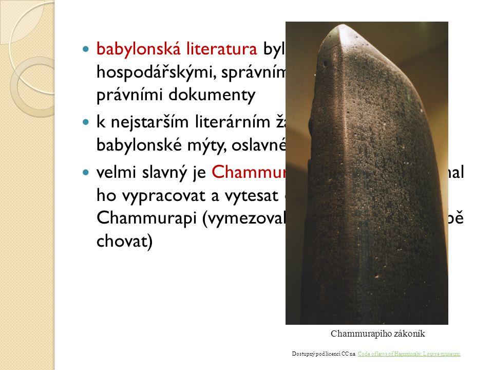 Dostupný pod licencí CC na Code of laws of Hammurabi; Louvre museum;