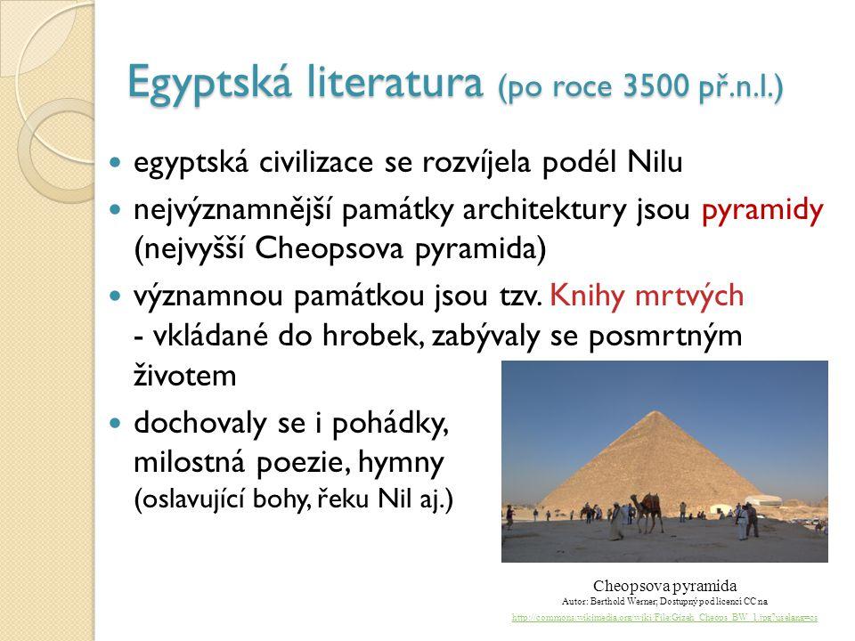 Egyptská literatura (po roce 3500 př.n.l.)