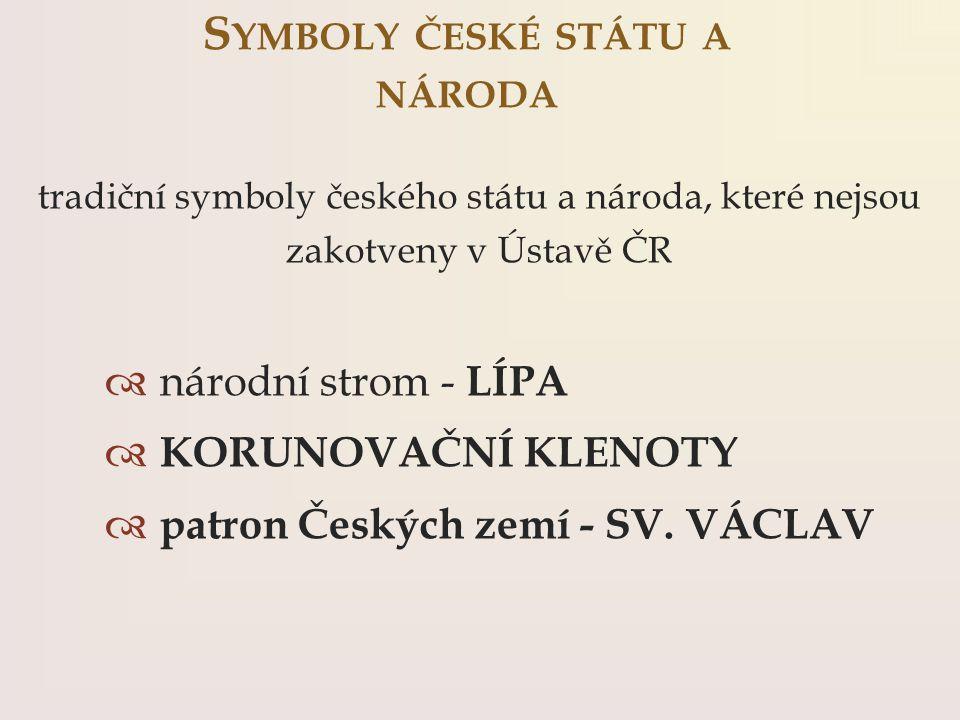 Symboly české státu a národa