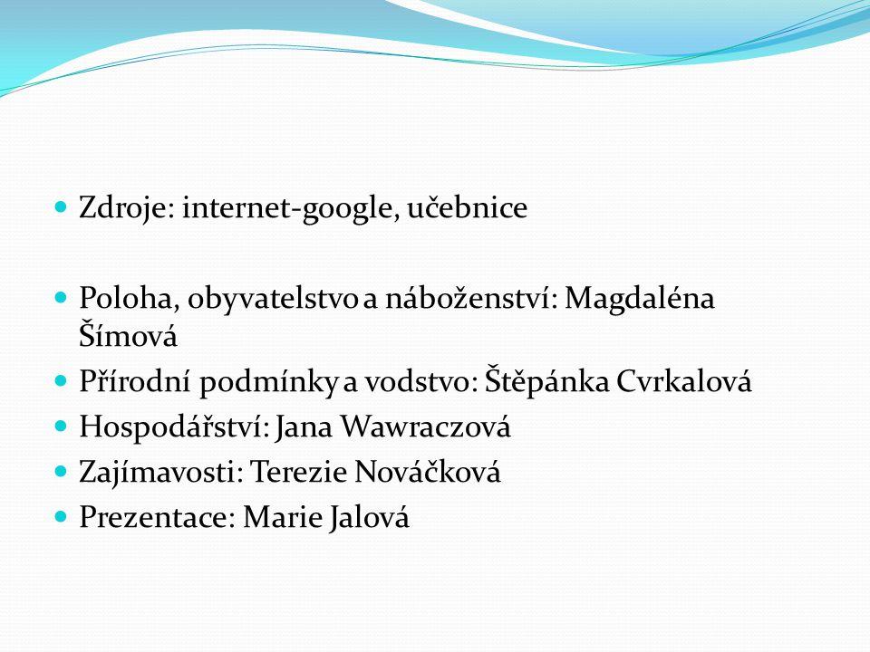 Zdroje: internet-google, učebnice