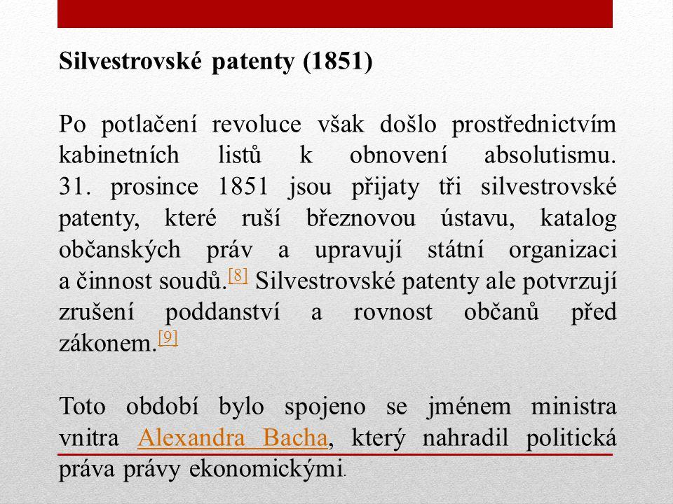Silvestrovské patenty (1851)
