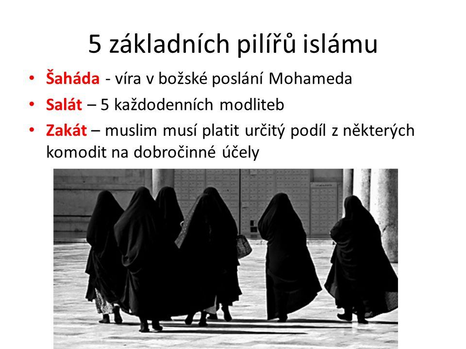 5 základních pilířů islámu