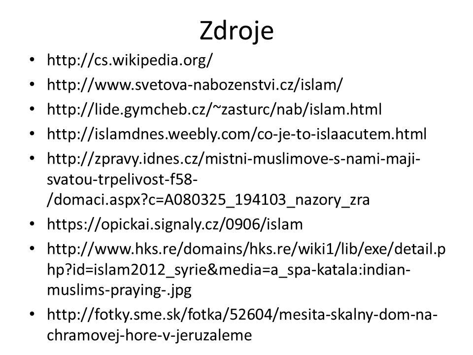 Zdroje http://cs.wikipedia.org/