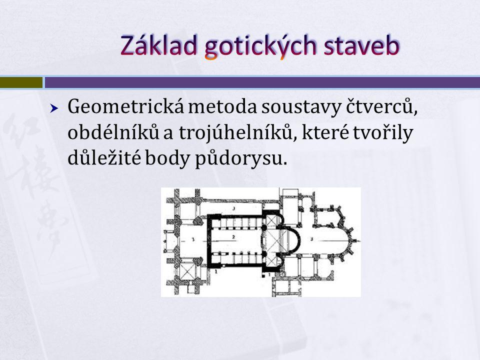 Základ gotických staveb